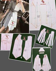 Best 12 Rok milenial – Page 448741550371516000 – SkillOfKing. Fashion Sewing, Diy Fashion, Fashion Dresses, Diy Clothing, Sewing Clothes, Dress Sewing Patterns, Clothing Patterns, Costura Fashion, Mode Abaya