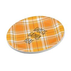 Ghosts Gather Here Halloween Autumn Party Plates - rustic country gifts style ideas diy