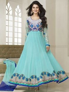Check out what I found on the LimeRoad Shopping App! You'll love the blue embroidered 60gram Georgette semi stiched suit set. See it here http://www.limeroad.com/products/9827020?utm_source=1dfc86c23e&utm_medium=android