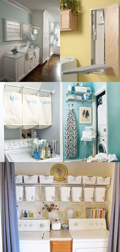 laundry room ideas / I love that light blue I don't know what it is but I am stuck on that color right now