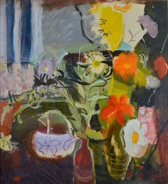 Ivon Hitchens, Flowers, 1942, Oil on canvas|Pallant House Gallery (Mrs Diana King Bequest presented through The Art Fund, 2003) © Estate of Artist
