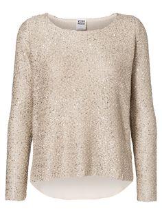 Sequined jumper from VERO MODA. Glittery winter wardrobe.