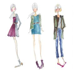 Charming fashion illustrations by Tibi founder and head designer, Amy Smilovic
