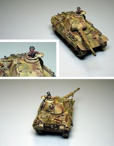 12. SS Panther Commander #1 Flames of War, 15mm