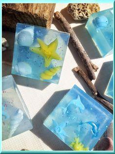 Ο ΝΕΡΑΙΔΟΚΗΠΟΣ της Eλενης-Aντζελινας!/Χειροποιητα σαπουνια-καλλυντικα/ΕLENI'S FAIRY GARDEN: Shades of Blue glycerin soap Summer Crazies series by Eleni!