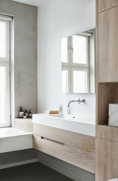 Scandinavian Bathroom Design and Decor Ideas - Best Home Decorating Ideas - Easy Interior Design and Decor Tips Bathroom Toilets, Laundry In Bathroom, Bathroom Renos, Bathroom Interior, Bathroom Ideas, Wood Bathroom, Design Bathroom, Bathroom Cabinets, Bath Design