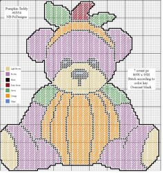PUMPKIN TEDDY by NB PcDesigns -- WALL HANGING