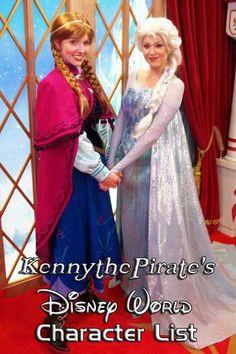 Disney World character list