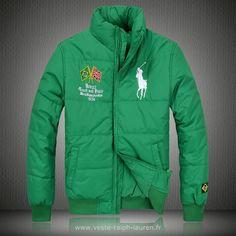 cb36f71b5ef Polo officiel - Ralph Lauren doudoune manteau hommes 2013 classic big pony  drapeau national brazil vert Doudoune Ralph Lauren Rouge