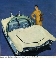 One for the jetsons: futuristic retro futurism:    Astra-Gnome: Time and Space Car of 1956