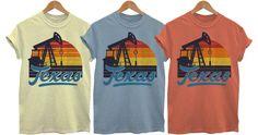 Texas-themed Retro 70s T-Shirt