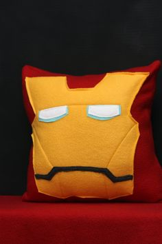 Ironman Pillow Plush Cushion by HomegrownTrinkets on Etsy