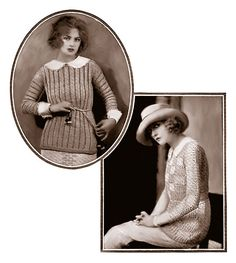 The Stanton (top left) and Overmere (bottom right) sweaters From Fleisher's Knitting and Crocheting Manual, 1922