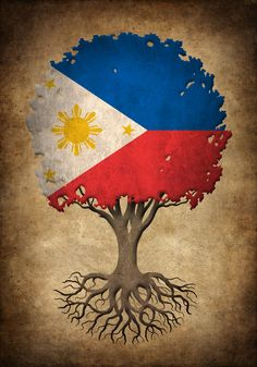 Vintage Tree of Life with Flag of Philippines Art Print by Jeff Bartels - X-Small Paper Background Design, Flag Background, Flower Background Wallpaper, Filipino Art, Filipino Culture, Philippines Culture, Philippines Flag, Philippine Flag Wallpaper, Philippines Wallpaper