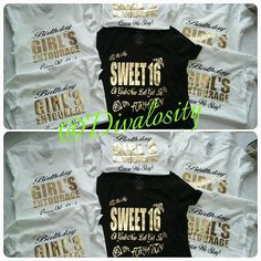 Sweet 16 or Entourage Formation Slay Birthday Shirt by Divalosity