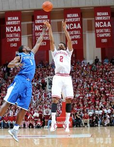 My parents have raised me right ever since the beginning of time.  I have always ate, slept, and watched my Hoosiers in football and basketball.  This picture was one of the greatest moments of my life especially since it was against Kentucky.