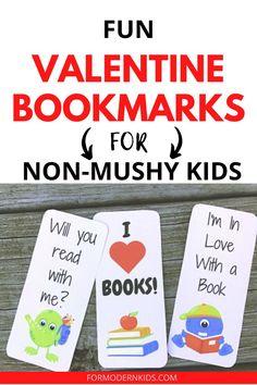 Printable Valentine's Day Bookmarks (Non-Candy Valentine)