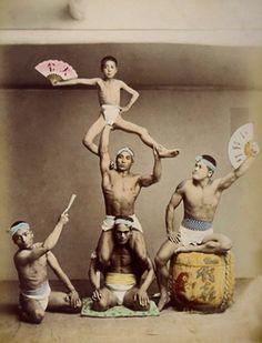 Vintage Japanese acrobats