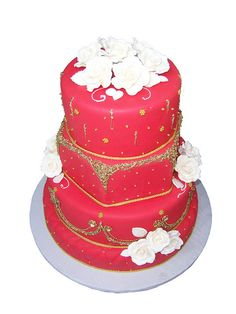 Indian Wedding Cake | Flickr - Photo Sharing! by Sara J Pastries