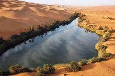 Ouma al Maa Lake. Libye.