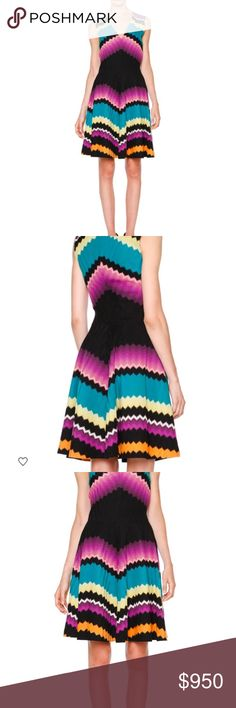 NWT Missoni fit and flare zig zag dress. Brand new This dress is amazing and prettier in person!  Brand new with tags. It is full price at Neiman Marcus right now!  Italian size 42, US size M Missoni Dresses