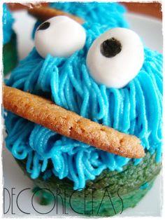 DECORECETAS: Cupcakes Monstruo de las galletas