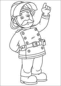 75 Fireman Sam printable coloring pages for kids. Find on coloring-book thousands of coloring pages. Truck Coloring Pages, Online Coloring Pages, Cool Coloring Pages, Cartoon Coloring Pages, Printable Coloring Pages, Coloring Pages For Kids, Coloring Books, Fireman Party, Firefighter Birthday