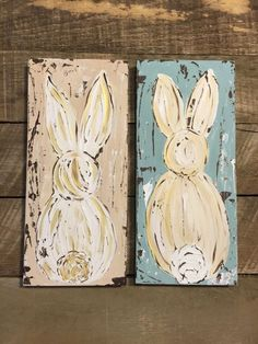 hoppy easter Bunny art Easter bunny Easter decor Spring art by HaleyBDesigns Bunny Painting, Spring Painting, Spring Art, Spring Crafts, Easter Art, Hoppy Easter, Easter Bunny, Easter Decor, Easter Projects