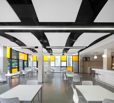 Hospital de San Juan de Dios Santurce, Hiszpania, Optima Curved Canopy, Armstrong, sufity podwieszane, sufit akustyczny, acoustic, ceiling