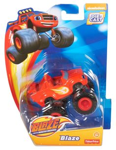 With big wheels and an even bigger personality, Blaze is a champion on the racetrack and a hero on Axle City's streets! Looking just as he does on the show, this die-cast Blaze vehicle is perfect for