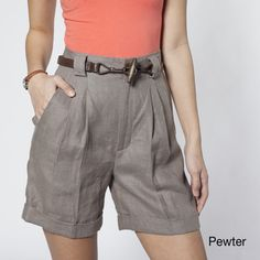 American Apparel Women's Pleated Shorts | Overstock.com