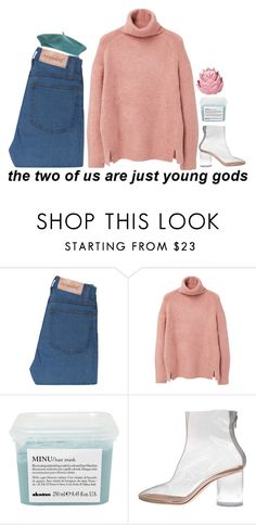 """loving someone ❁"" by pawn-shop-heart ❤ liked on Polyvore featuring MANGO, Davines, Maison Margiela and Zara Home"