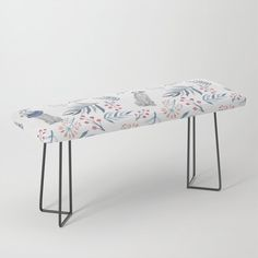 """Park it in style on this incredibly versatile bench, upholstered with vegan leather featuring all the designs you love. The perfect indoor bench, it will give any space an instant upgrade. Dress it with plush blankets or throw pillows to keep it elegant, but super cush.    -44"""" x 16"""" x 18"""" (H)   -Steel legs available in gold or black   -Wipe clean with damp cloth Plush Blankets, Throw Pillows, Weimaraner, Vegan Leather, Cleaning Wipes, Berries, Bench, Indoor, Steel"""