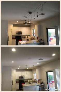 Pot Lights Kitchen Az recessed lighting installation of leds in kitchen az recessed az recessed lighting kitchen transformation installation of 4 retrofits 4 new led lights and workwithnaturefo