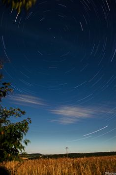 This is a startrail photography out of 170 single shots. So nearly a hour of exposure.