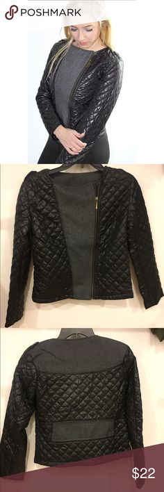 Long Sleeves Round Neck PU Leather Checked Zipper This leather stylish women's coat Clothes Type: Leather & Suede Material: Polyester Type: Slim Clothing Length: Short Sleeve Length: Full Collar: Round Neck Jackets & Coats Blazers