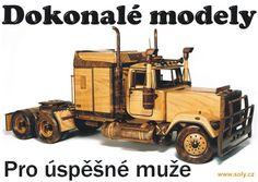 Truck Mack dřevěný model kamionu - australský typ
