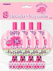 1st Birthday Ladybug Blowouts www.onestopkidspartyshop.com.au