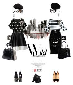 """Stars and stripes"" by pensivepeacock ❤ liked on Polyvore featuring Givenchy, Louis Vuitton, Viktor & Rolf, Prada, Dolce&Gabbana, Giorgio Armani, Balenciaga, Christian Louboutin, Yves Saint Laurent and Chanel"