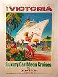 DP Vintage Posters - Original United Airlines Travel Poster Caribbean