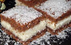 Prăjitură cu blat de cacao și umplutură de cocos – Un deliciu pe care nu ai voie să îl ratezi German Cake, Romanian Food, Love Cake, Cake Cookies, Coco, Cookie Recipes, Food To Make, Sweet Tooth, Bakery