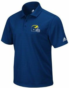 adidas Michigan Wolverines Football Navy Performance Clima Polo Shirt by JAGZ. $34.99. Embroidered Helmet Logo. Tagless Collar. 100% Clima Polyester. The classic combination of dress and casual, this Michigan Wolverines adidas Navy Best Logo Clima Polo Shirt brings together your love of the Michigan Wolverines and your great style. Features an embroidered team logo at the left chest with adidas logo on the left sleeve. Add this piece of Wolverines apparel to your colle...
