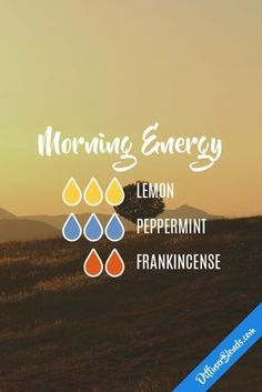 Morning Energy with doTERRA essential oils. Essential Oil Diffuser Blends, Doterra Essential Oils, Young Living Essential Oils, Diffuser Recipes, Aromatherapy Oils, Aromatherapy Recipes, Perfume, Diffusers, Wellness