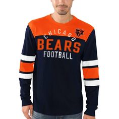 NFL Chicago Bears G-III Sports by Carl Banks Fair Catch Long Sleeve T-Shirt - Navy