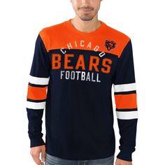 NFL Chicago Bears G-III Sports by Carl Banks Fair Catch Long Sleeve T-Shirt - Navy