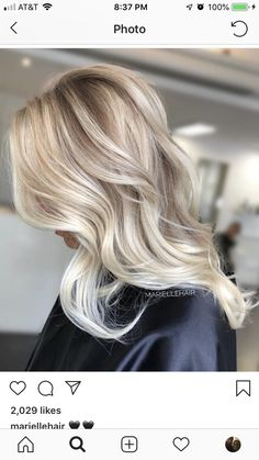 20 Cute and Easy Blonde Balayage Hairstyles – My hair and beauty Platinum Blonde Balayage, Balayage Blond, Blond Beige, Hair And Beauty, Blonde Hair Looks, Hair Color And Cut, Great Hair, Long Hairstyles, Hair Day