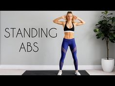 No sitting, laying down, or crunches in this Standing Abs Workout. 10 minutes of core work. No equipment needed in this bodyweight ab workout! Body Weight Ab Workout, 10 Min Ab Workout, Full Body Hiit Workout, Cardio Abs, Hiit Workout At Home, Abs Workout Routines, Workout Videos, At Home Workouts, Workout Challange