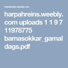 harpahreins.weebly.com uploads 1 1 9 7 11978775 barnasokkar_gamaldags.pdf Pdf, Knitting, Tricot, Cast On Knitting, Stricken, Crocheting, Knits, Yarns, Stitches