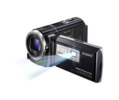 "Sony HDR-P J260V Handycam Camcorder Project Movies Anywhere. Create a mobile theater experience with a built-in projector that displays up to 100"" (diag.) on any wall."