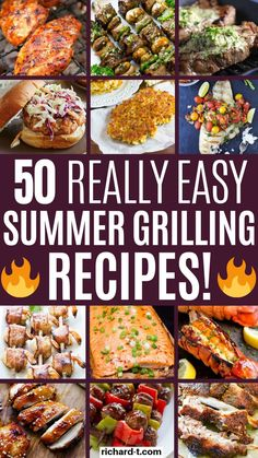 50 Easy Grilling Recipes That'll Get The Party Started These 50 easy grilling recipes look so delicious! I am so glad I found these, and hopefully you can all enjoy these too! Grilling recipes are needed this summer, so make sure you check these out! Pork Ribs Grilled, Smoked Pork Ribs, Grilled Food, Summer Grilling Recipes, Summer Recipes, Party Recipes, Cooking Recipes, Healthy Recipes, Delicious Recipes